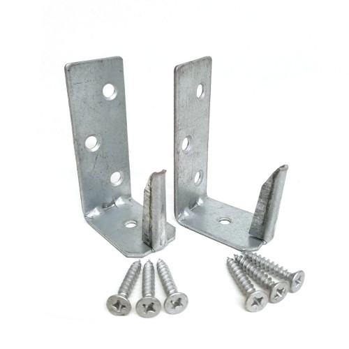 OZCO EZ-Hide Wood to Wood Brackets - Pair with Hardware
