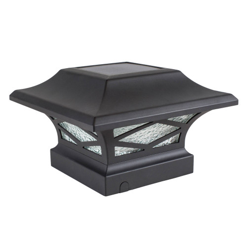 Kingsbridge Black Cast Aluminum Solar Post Cap Light from Classy Caps