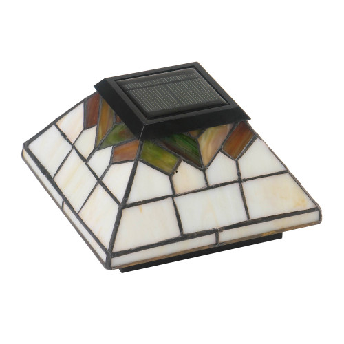 Wellington Stained Glass Solar Post Cap from Classy Caps