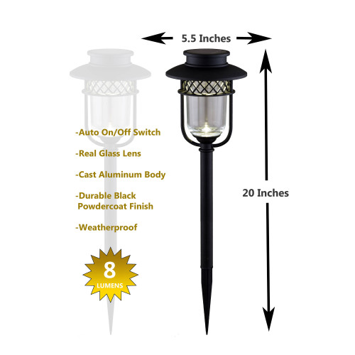 GL1101 - Black Stainless Steel Garden Light Graphic