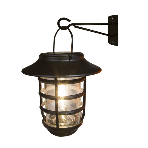 Nottingham Black Aluminum Solar Hanging Coach Light with Included Wall Mount from Classy Caps