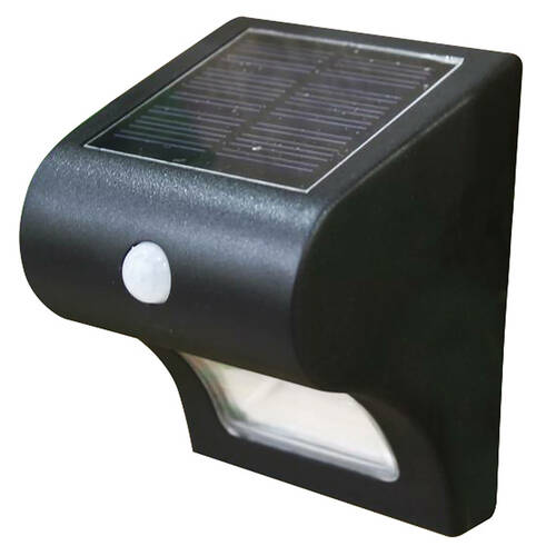 Black Solar Motion Sensor Deck & Wall Light from Classy Caps (SL133)