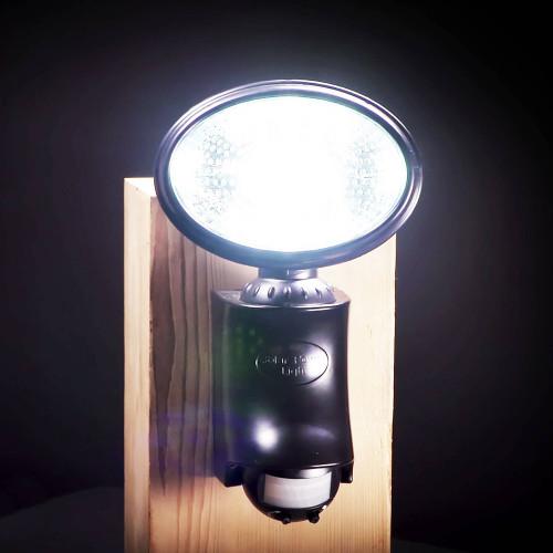 Classy Caps' Black Solar Motion Sensor Security Light with 9 LEDs on Post