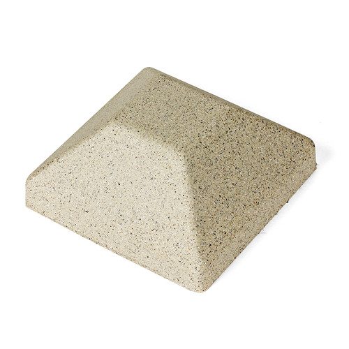 5 x 5 Beige Granite Single Cap for Bufftech Molded Fence Styles Sherwood & Allegheny