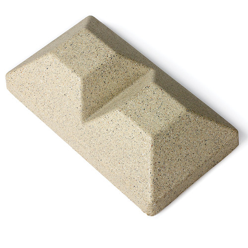5 x 5 Beige Granite Inline Double Cap for Bufftech Allegheny & Sherwood Molded Fence Styles