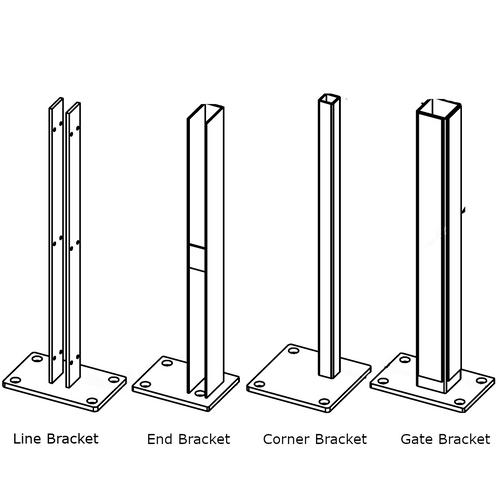 Bufftech Concrete Mounting Brackets for Molded Fence Styles