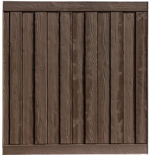Bufftech Sherwood Fence Panel in Walnut Brown