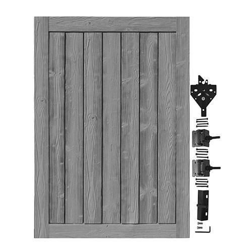 Bufftech Sherwood Gate with Hardware in Nantucket Gray