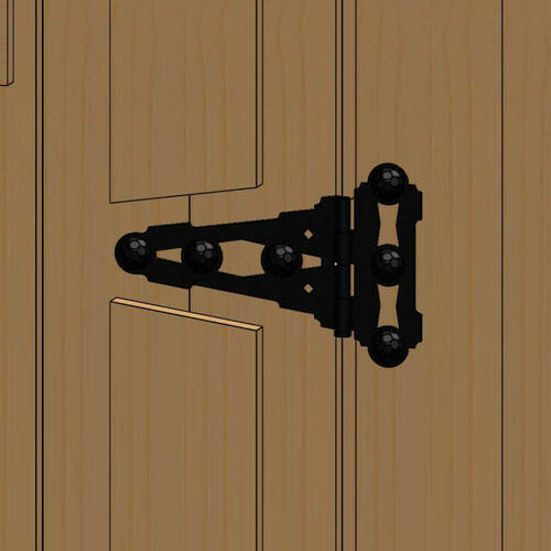 T-Hinge from OZCO Building Products OWT Hardware - Typical Installation