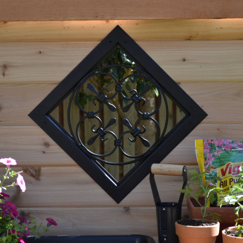 Wood Fence with OZCO OWT Hardware Wood Scroll Accent