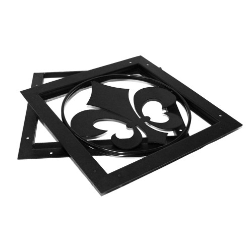 Fleur-De-Lis Ornamental Wood Gate Accent from OZCO OWT Hardware