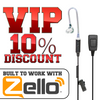 VICTORY 2-Wire Earpiece 3.5 Pin for Zello