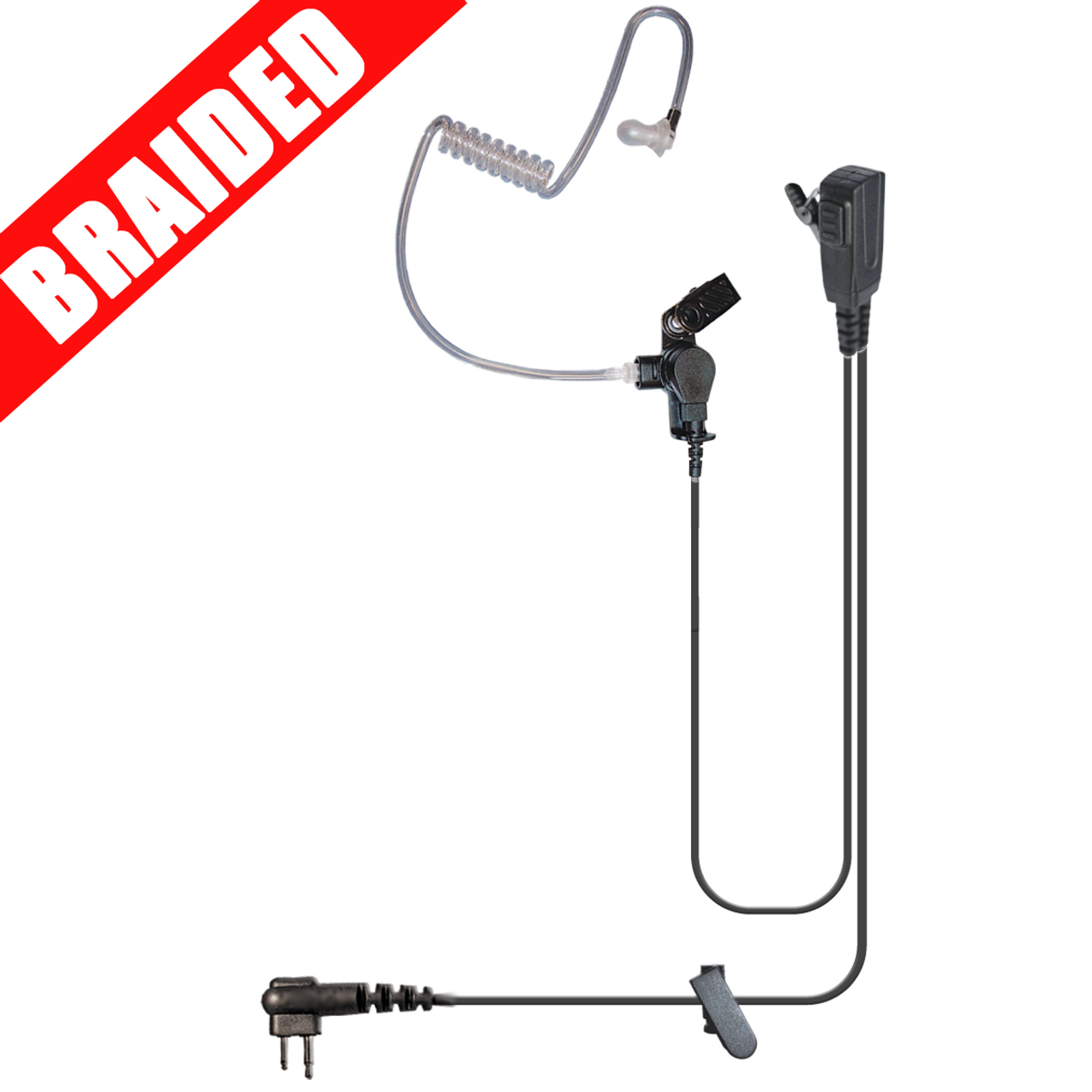 Signal Split-Wire Earpiece with Braided Cable