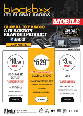 Blackbox - Nationwide IoT 2-Way MOBILE (INCL. 1 Year PTT Application)