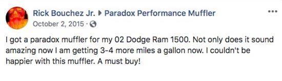 Dodge with Paradox Performance Muffler