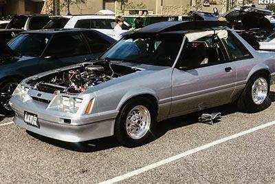 Fox body Mustang with Paradox Performance Muffler