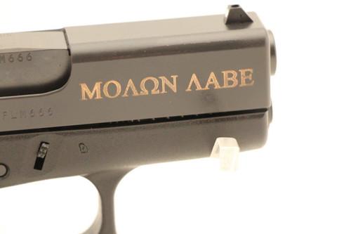 Glock Model 43 9MM NEW Spartan Logo