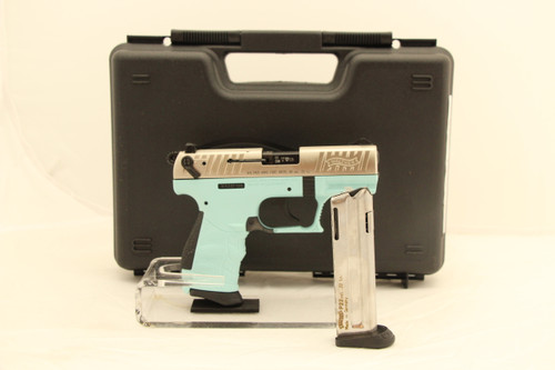 Walther P22Q .22LR Angel Blue/Silver Slide NEW