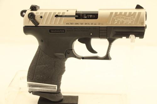 Walther P22Q .22LR Black Frame Silver Slide NEW