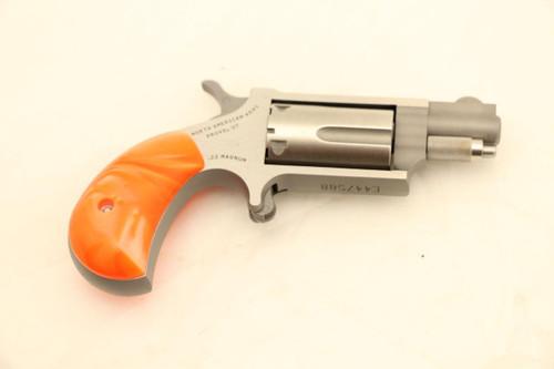 North American Arms Mini Revolver W/ Orange Pearl Grips .22LR/.22MAG NEW