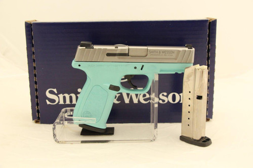 Smith & Wesson SD9VE 9MM Tiffany Blue/Silver NEW