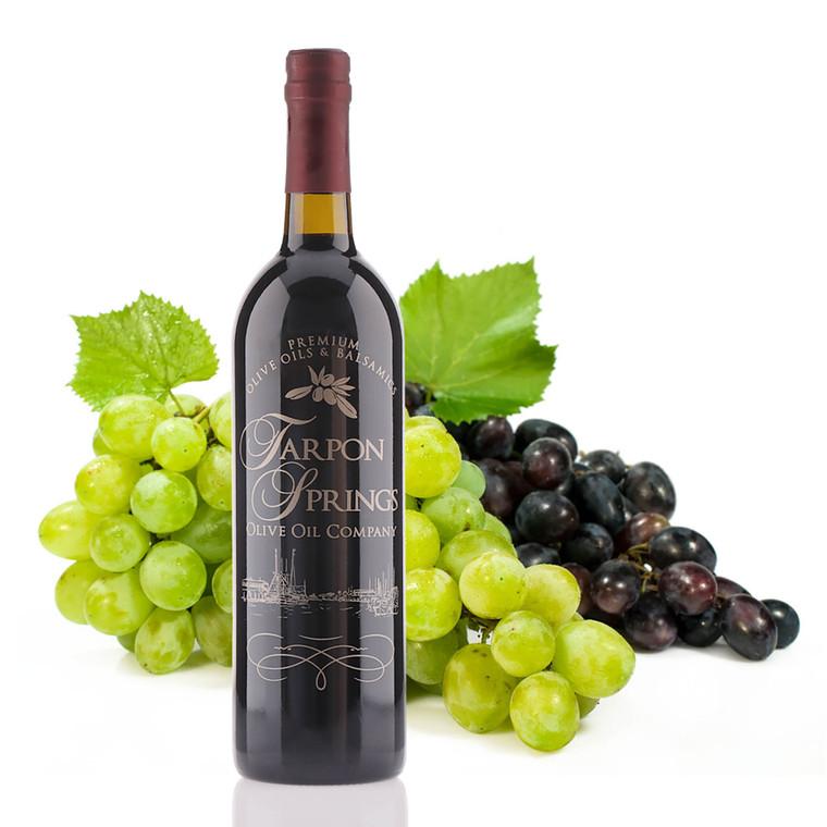 A 750mL bottle of Tarpon Springs 18 year Traditional Dark Balsamic Vinegar