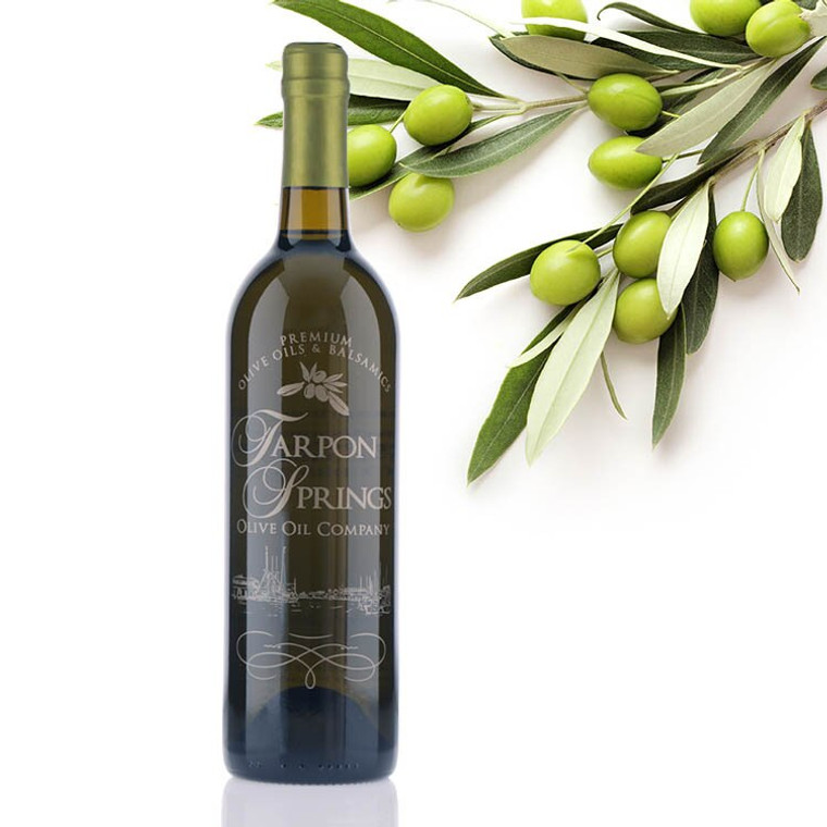 A 750mL bottle of Tarpon Springs Chilean Coratina Extra Virgin Olive Oil