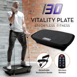 【高品質】ぶるぶる 3D 振動マシン リモコン・ストレッチバンド付 / Vitality Plate