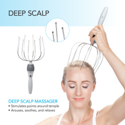 5-in-1 Electric Vibrating Head Scalp Massager Set