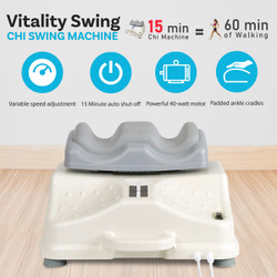 Daiwa Felicity Original Chi Swing Machine USJ-815 Deluxe Passive Aerobic Exerciser Vitality Swing with Comfortable Ankle Padded Cradles