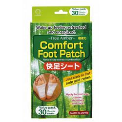 【お徳用】樹液力 快足シート 30枚入 / Comfort Foot Patch Tree Amber