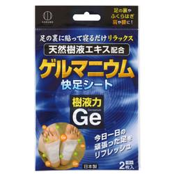樹液力 ゲルマニウム 快足シート 2枚入 / Germanium Foot Pads - 2 sheets