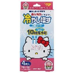 ハローキティ冷やし増す 4枚入 (ももの香り) / Hello Kitty Cooling Gel Sheets (4 sheets) - Peach Scent