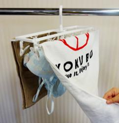 PH スリム角ハンガー ピンチ12個付  / PH Pole Hook Hanger with elastomer