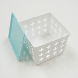 +tot ボックスCUBE(フタ付き PINK or BLUE) / +tot BOX cube with Lid