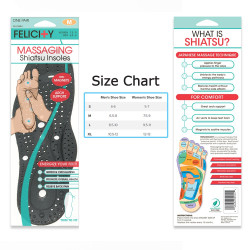 Massaging Shiatsu Insoles with Magnet