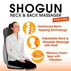 【展示品・開封品】首・肩・腰全体をマッサージ Shogun Neck & Back Massager (90日保証付き)