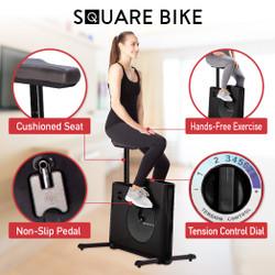 【展示品・開封品】コンパクト エクササイズ バイク Square Bike  (90日保証付き)