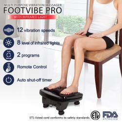 【展示品・開封品】高速バイブレーションで血行促進 FootVibe Pro (90日保証付き)