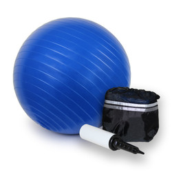 Fitness Ball w/ Draw-String Travel Sack and Hand-Pump