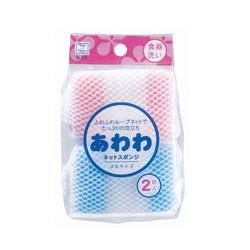 【お得なまとめ買い】あわわネットスポンジぷち 2個入 × 10パック / Mini Meshed Sponges - 2pcs x10pack