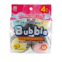 【お得なまとめ買い】バブルステンレスタワシ 小 4個入り × 10パック