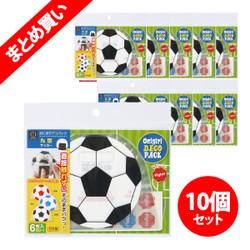 【お得なまとめ買い】おにぎりデコパック丸型(サッカーボール) 6枚入り × 10パック / Rice Ball Wrappers - Round (Soccer Ball) 6sheets x10pack
