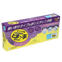 ポリエチ手袋 とまっ手 Goo ! フリーサイズ 100枚入り 使い切りタイプ ポリエチレン手袋 / Polyethylene Disposable Gloves 100 pcs