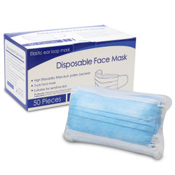 【緊急入荷】使い捨てマスク 不織布製 50枚入 (中国製) / Disposable Mask Non-woven and melt blown 50 pcs