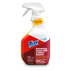 TILEX / CLOROX PRO Disinfecting Instant Mold & Mildew Remover 1QT (32 FL OZ) 946mL x9 bottle set (1 case) [Alternative of Lysol or Clorox Cleaner / Multi Surface Cleaner with breach]