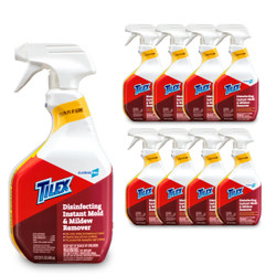 TILEX / CLOROX PRO Disinfecting Instant Mold & Mildew Remover 1QT (32 FL OZ) 946mL x9 bottle set (1 case) [Multi Surface Cleaner with breach]