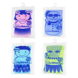 【プレゼント】ぬらしてひんやり!冷却タオル Cool Touch (小)4枚セット(Green, Pink, Blue, Light blue)/  Cooling Towel Cool Touch (Small) 4pc set