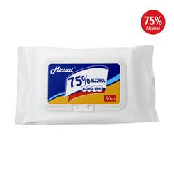 75% アルコール除菌ワイプ (50枚入) x6 パックセット / Disinfecting 75% Alcohol Wipes - 50 sheets x6 pack set