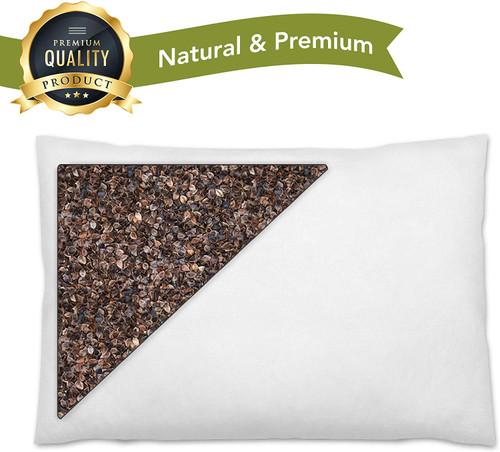 100% オーガニック そば殻 まくら (枕カバー付き) / 100% Natural Premium Buckwheat Sobakawa Pillow with Pillow Protective Cover